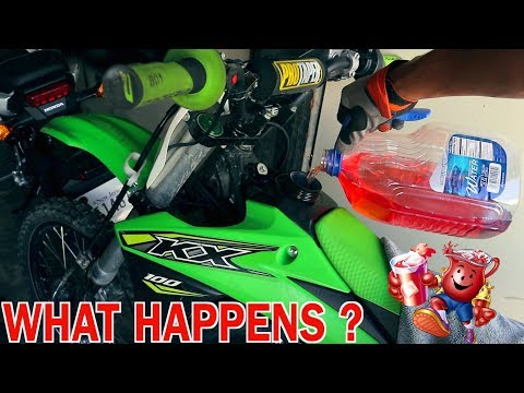 POURING KOOL-AID IN MY DIRTBIKE !