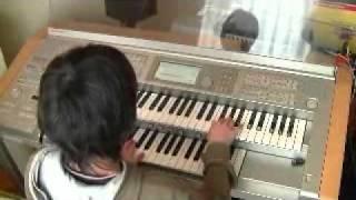 20110323 弟 小6 小学卒業記念に ♪黒い炎 と2曲弾いてもらいました♪ ミスありです~