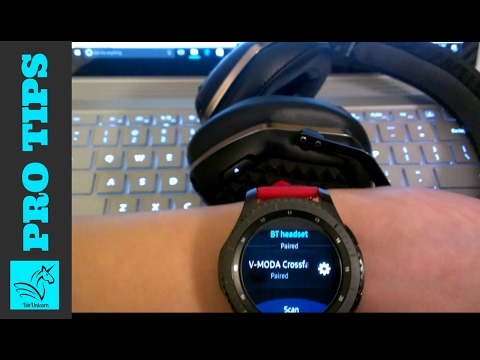 Gear S3 Pro Tips: Listen to Music/Spotify & Pair BT Headphones (HD)