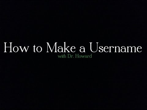 how to make a username for a dating site
