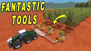Faming Simulator 17: Very Fantastic Tools; Fives Plugin, NH Mini Baler, T-150 Blue Tractor..