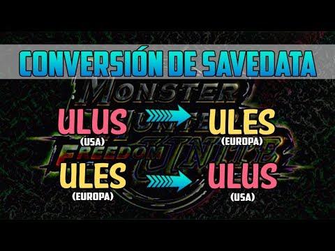 Monster Hunter Freedom Unite: Cómo convertir savedata MHFU de ULUS (Americana) a ULES (Europea) thumbnail