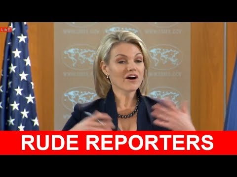 RUDE REPORTERS vs HEATHER NAUERT State Department on JERUSALEM Press Briefing - REPORTER DESTROYED
