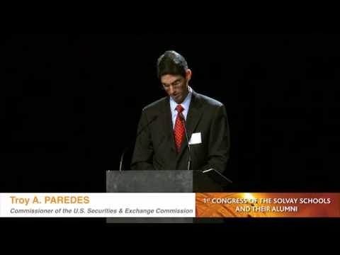 Solvay Brussels School welcomes Troy A. Paredes-US Securities & Exchange Commission