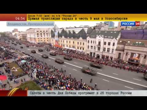 Vladivostok, Russia Marine parade May 9, 2015