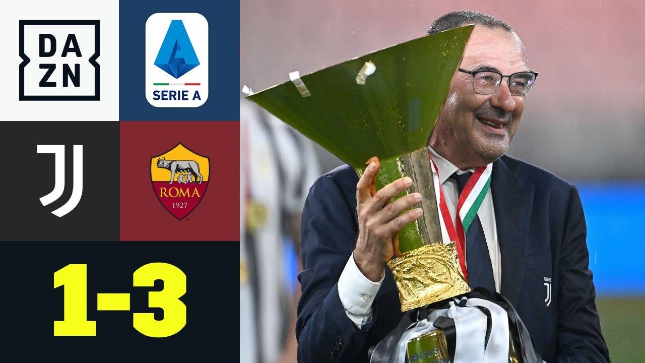 Juve mit Trophäe, aber ohne CR7 & Romas Perotti glänzt: Juventus Turin - AS Rom 1:3 | Serie A | DAZN