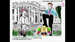 Jim Acosta. Easter Egg Roll. Donald Trump. Political Cartoon