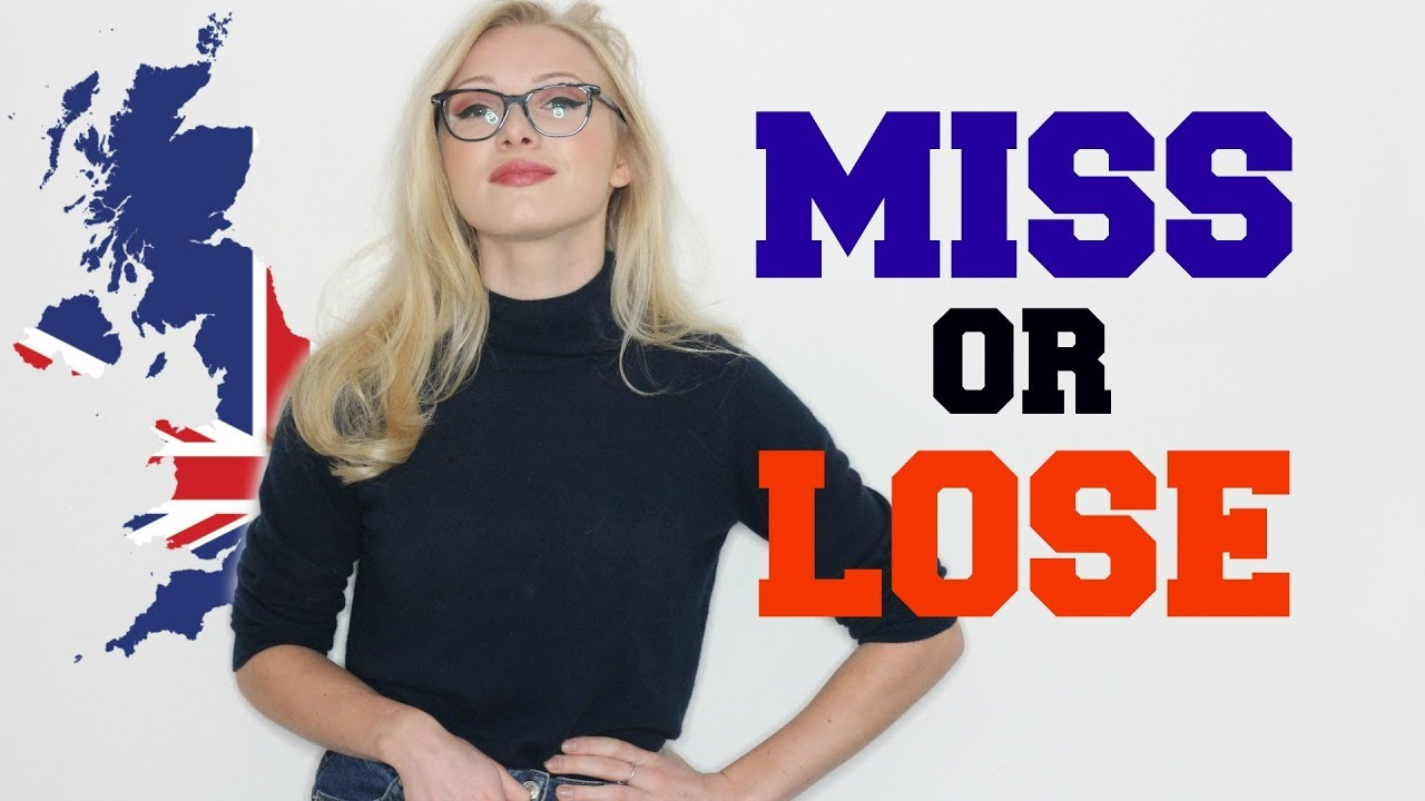 MISS or LOSE or MISSING? -  Differences and Collocations | English Grammar Lesson #Spon
