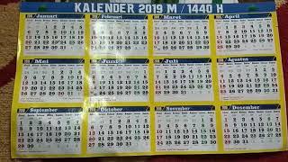 Gambar cover Kalender 2019