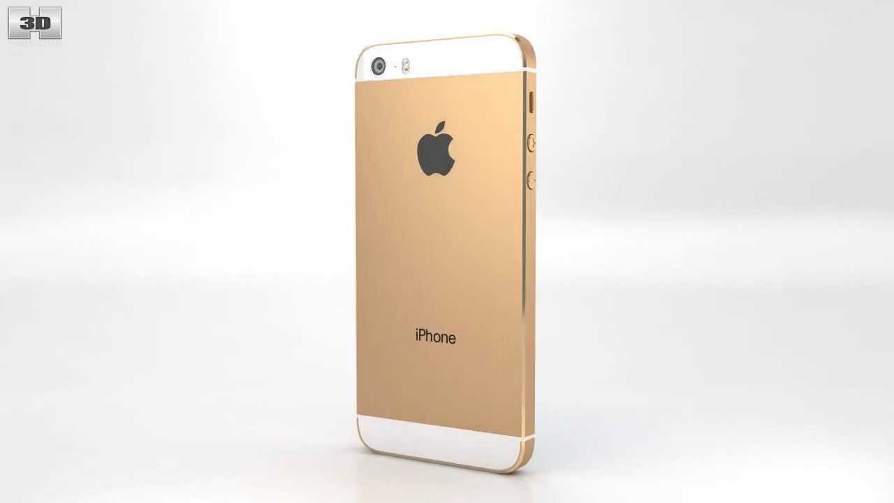 Apple iPhone 5S Gold by 3D model store Humster3D.com - YouTube