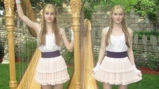 SCARBOROUGH FAIR - Harp Twins - Camille and Kennerly