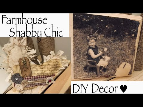 GIVEAWAY | FARMHOUSE DECOR WOOD PHOTO TRANSFER DIY | SHABBY CHIC PILLOW TUTORIAL | WITH COY!!!