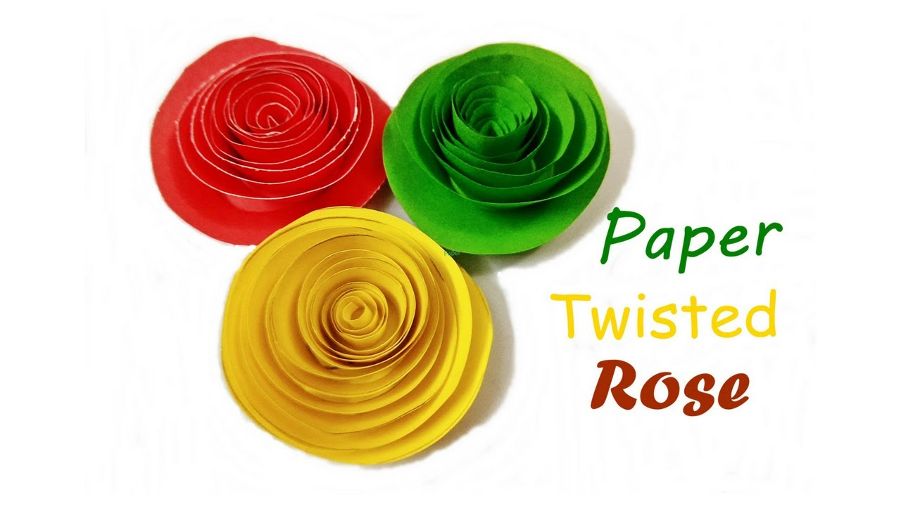 how to make paper quilling rose twisted rose rolled