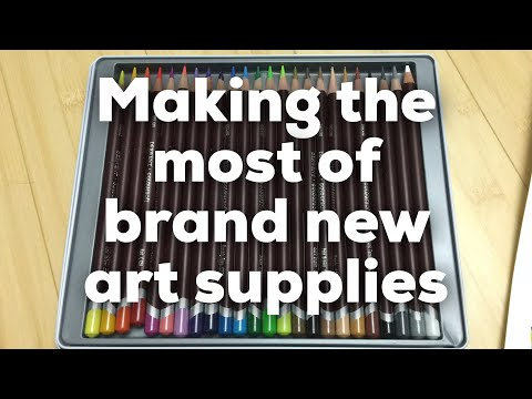What to do with brand new art supplies?