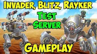 New Robots Invader, Blitz & Rayker Gameplay War Robots Test Server WR