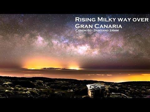 Rising Milky Way Over Gran Canaria - Canon EOS 6d - Samyang 24mm F1.4