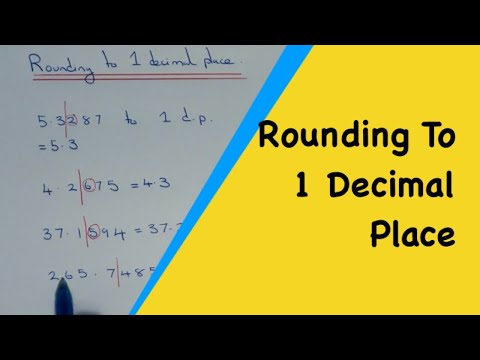 Rounding to 1 decimal place