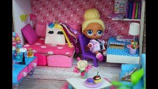 Куклы лол и новый ДОМ. LOL Surprise  Doll House DIY. MC Family.  lol house