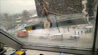 Чистка окон в офисе на Краснобогатырской