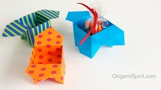 Easy and cute Origami Box : : Caja tradicional