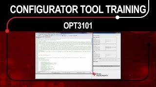 OPT3101 Configurator Tool Training