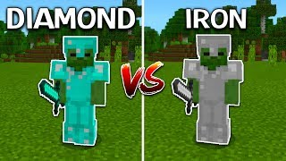 DIAMOND ARMOR vs. IRON ARMOR (Minecraft United UHC)