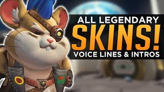 Overwatch: ALL Hammond SKINS, Voice Lines & Highlight Intros!