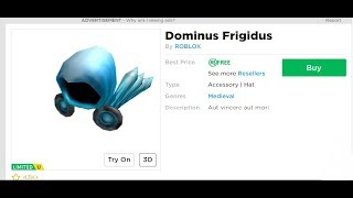 😱 ROBLOX GRATUITO DOMINUS RECEIVING HESAB😱 /20MILLION DOLLARS OF DOMINUS PER GRATIS ADAM /ROBLOX ITALIANO