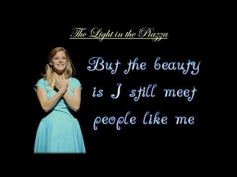 The Beauty Is - The Light in the Piazza - Karaoke/Instrumental [w/ LYRICS]