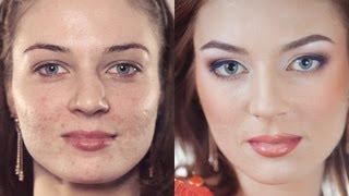 Вечерний макияж на проблемной коже. Пошаговое обучение! Makeup Tutorial (Урок №8)