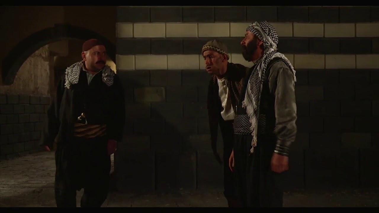 عبدو يشك بالواوي وفياض ويراقبهم ، باب الحارة 6 مصطفى الخاني ، حسام الشاه ، شادي مقرش