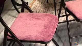 Innobella Destiny X Back Folding Chair - 4 Pack - Product Review Video