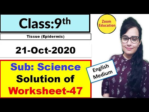 Class 9 SCIENCE worksheet 47 : English medium : 21 Oct 2020: science worksheet 47 : doe worksheet 47