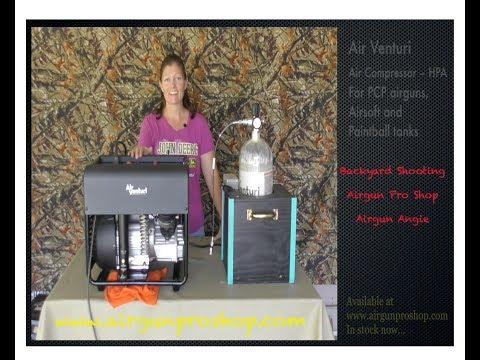 AirVenturi Personal Compressor, Airgun Angie Fills her Tank! - Самые  популярные видео