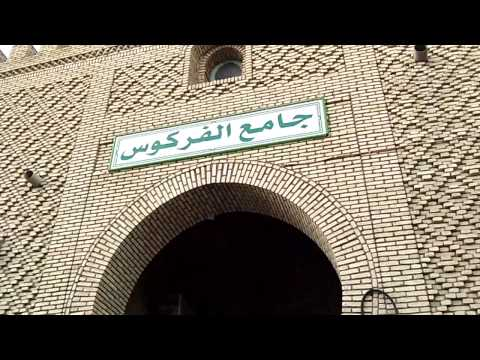 Tunisia - Tozeur medina - the mosque with a tall minaret.