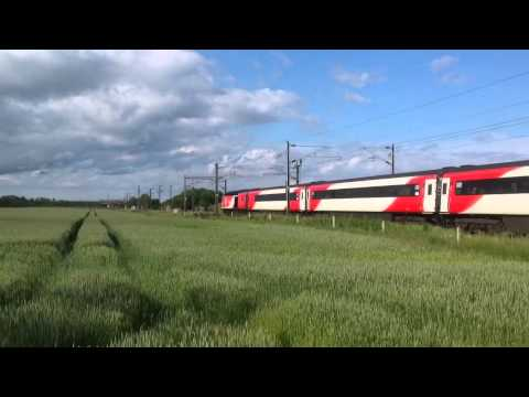 Virgin Class 43 HST No 43311/43312 in the New Virgin livery at Butterwell Jn on the June 20th 2015.