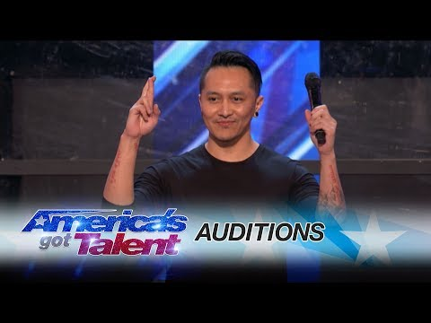 Thumbnail: Demian Aditya: Escape Artist Risks His Life During AGT Audition - America's Got Talent 2017