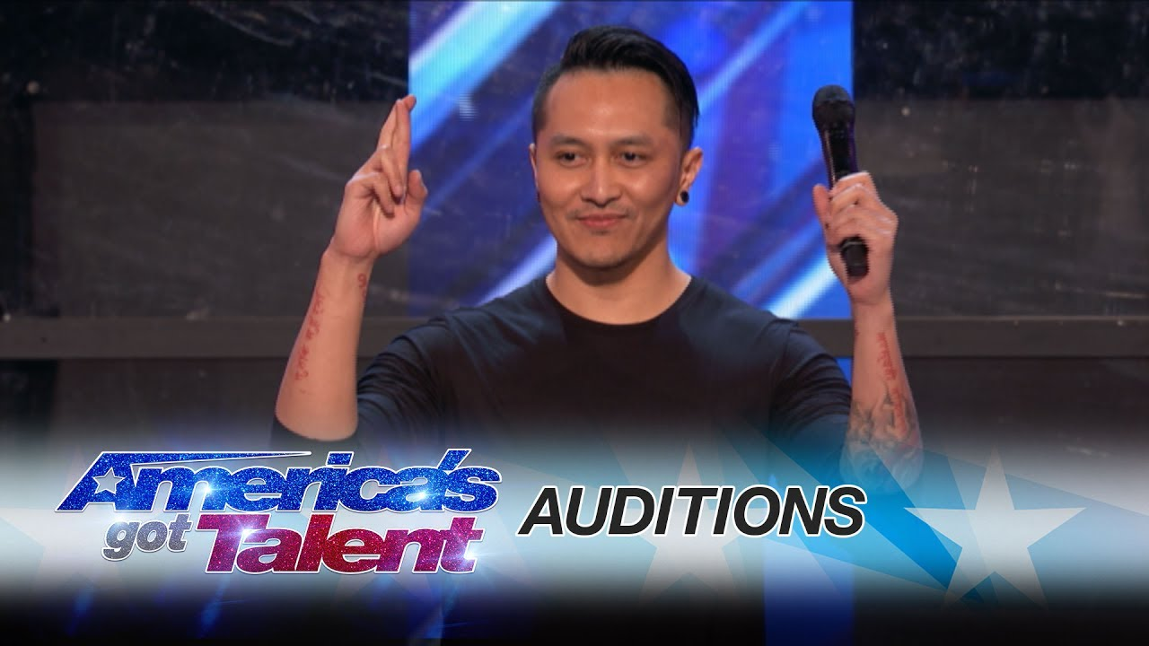 Americas Got Talent 2017 2nd Auditions - Demian aditya escape artist risks his life during agt audition america s got talent 2017