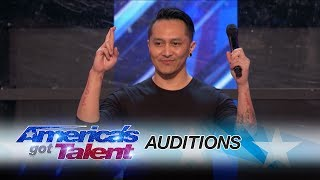 demian aditya escape artist risks his life during agt audition   americas got talent 2017