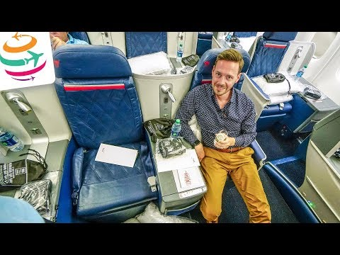 Delta Business Class Boeing 767-300ER | GlobalTraveler.TV