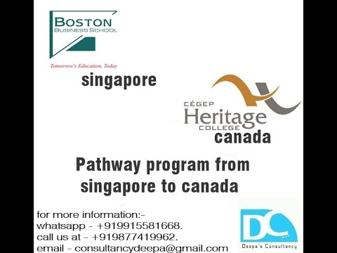 Pathway Program From Singapore To Canada In 2019