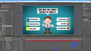 2D-cartoon-Animation in After Effekt | 3D | AE | Animation | Motion | Graphics | Video animation