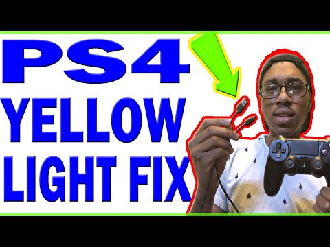 PS4 CONTROLLER YELLOW LIGHT: How To Fix Ps4 Controller Yellow Light Charging (2019)