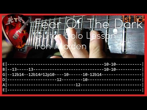 Fear Of The Dark Guitar Solo Lesson - Iron Maiden (with tabs)