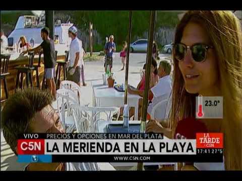 C5N - Verano 2017: La merienda en la playa de Mar del Plata