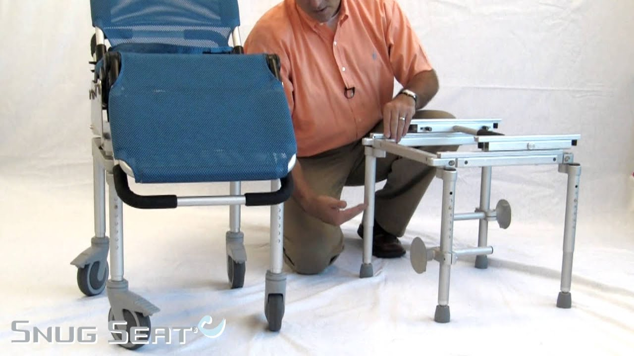 Snug Seat Manatee Tub Slider and Rolling shower frame - YouTube