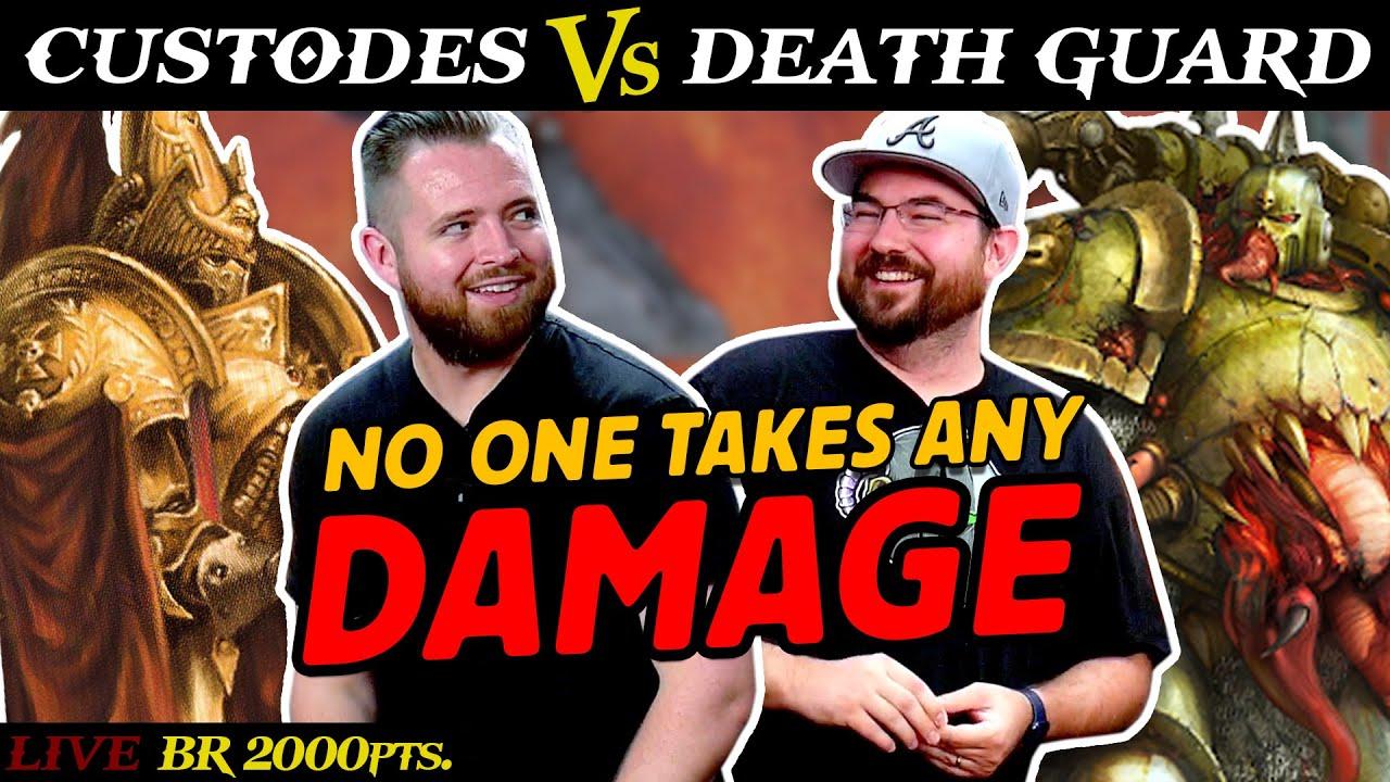 Custodes (Bricky) vs. Death Guard (Dameki) 2,000pts. | LIVE Battle Report Warhammer 9th Edition