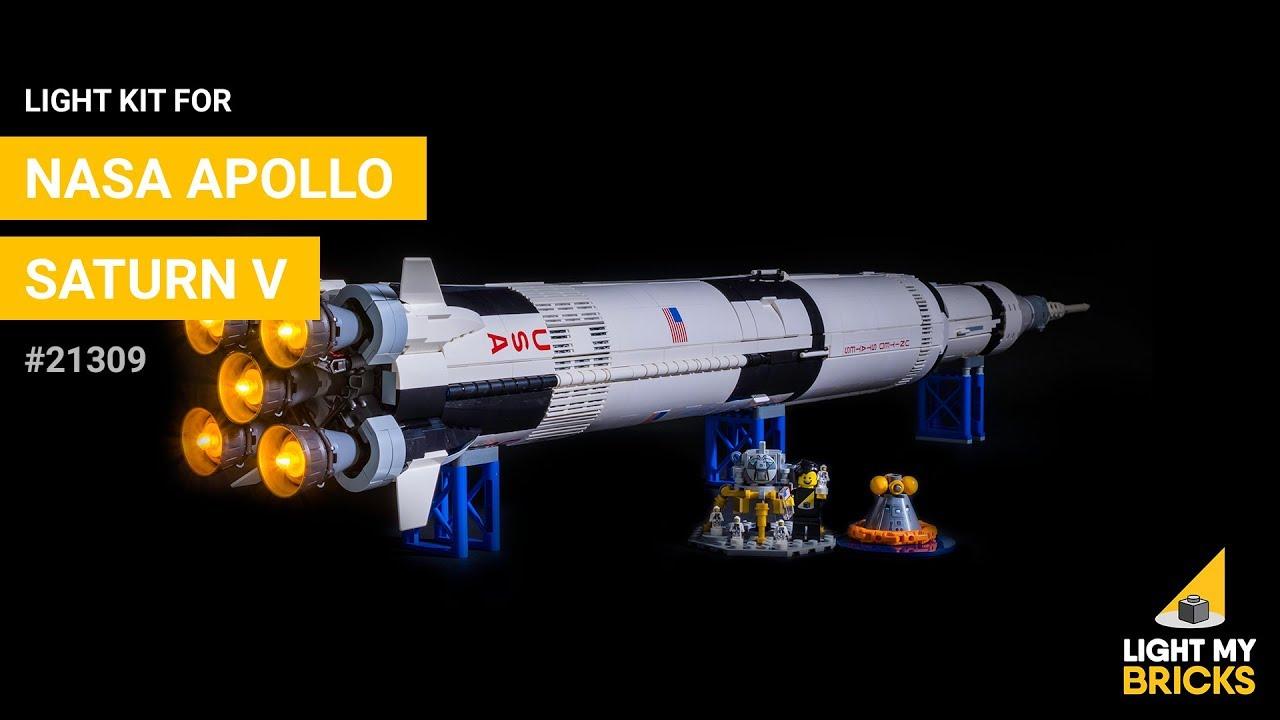 LED Light Up Kit For  21309 The Apollo Saturn V Launch Lighting set building