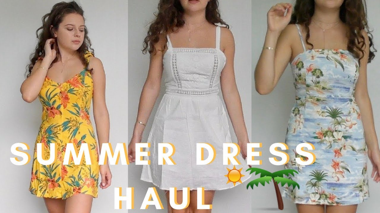 5c90a333899 SUMMER DRESS TRY ON HAUL 2018 (Forever21) - YouTube