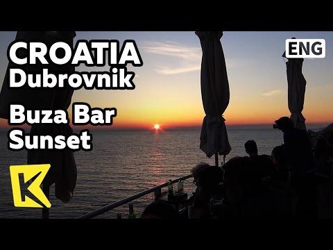 【K】Croatia Travel-Dubrovnik[크로아티아 여행-두브로브니크]부자카페에서 보는 석양/Buza Bar/Sunset/Café/View